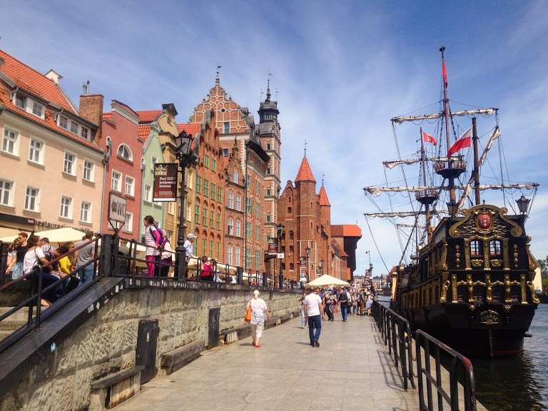 Harbour in Gdansk Poland during Spring Exploring Europe is a 2020 travel goal.