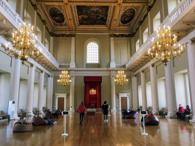 The Great Hall in the Banqueting House
