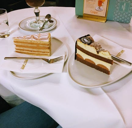 cakes in a cafe in vienna