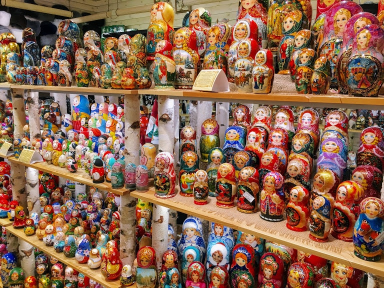 Russian dolls in St Petersburg