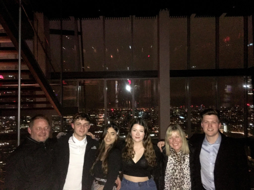 Family photo at the Aquashard in London in March 2020.