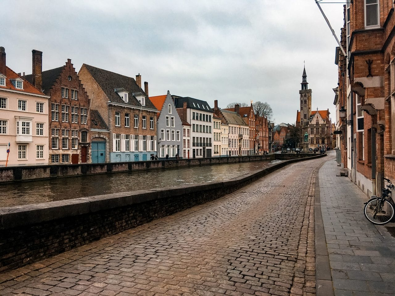 Bruges/Brugge cobbled streets and canal