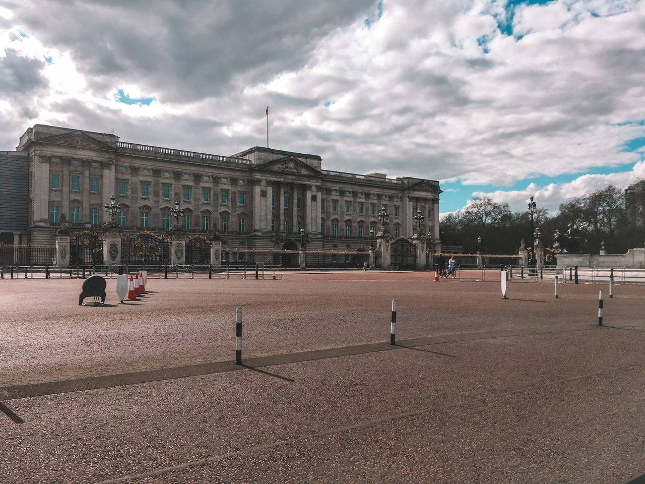 Buckingham Palace during the April 2020 lockdown