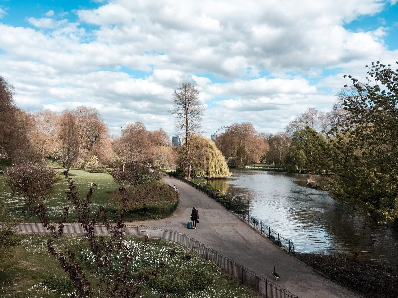 St James' Park in London, England in April 2020