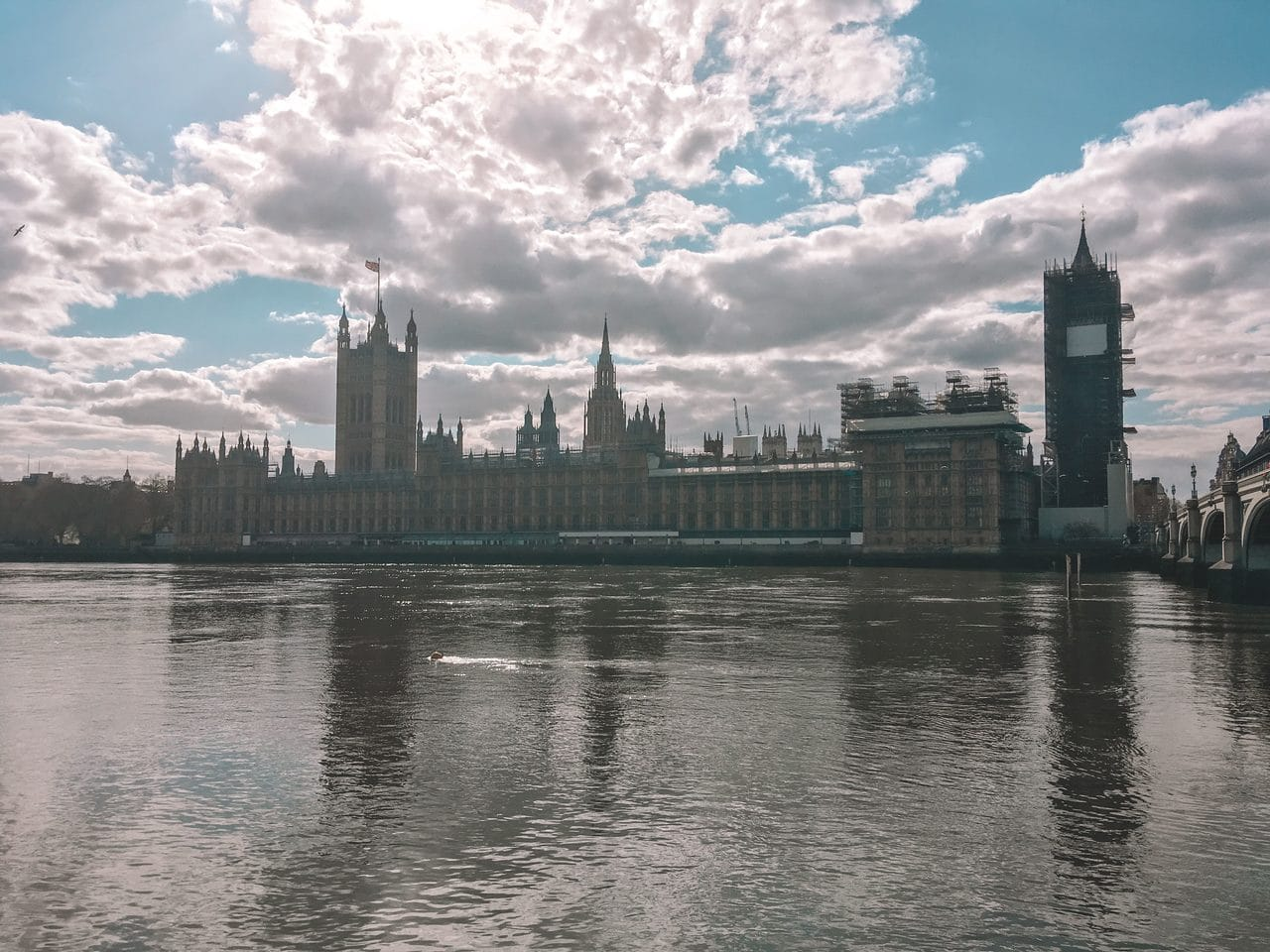 Houses of Parliament in London, England, in April 2020