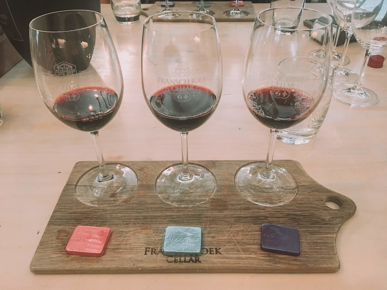 Wine and Chocolate Tasting at Franschhoek Cellar in South Africa