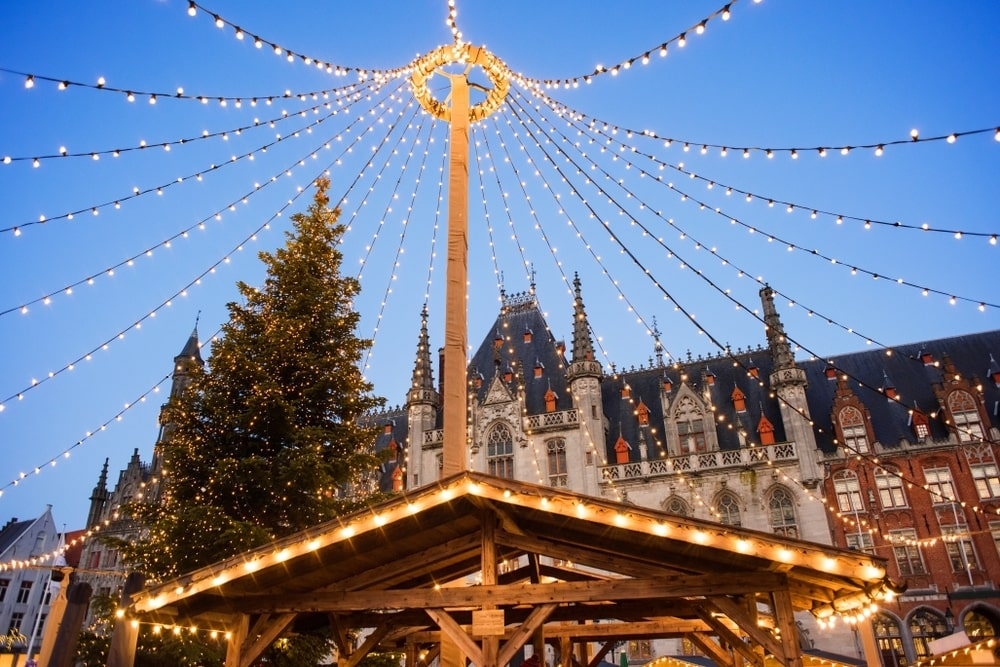 One day in Bruges Belgium at Christmas