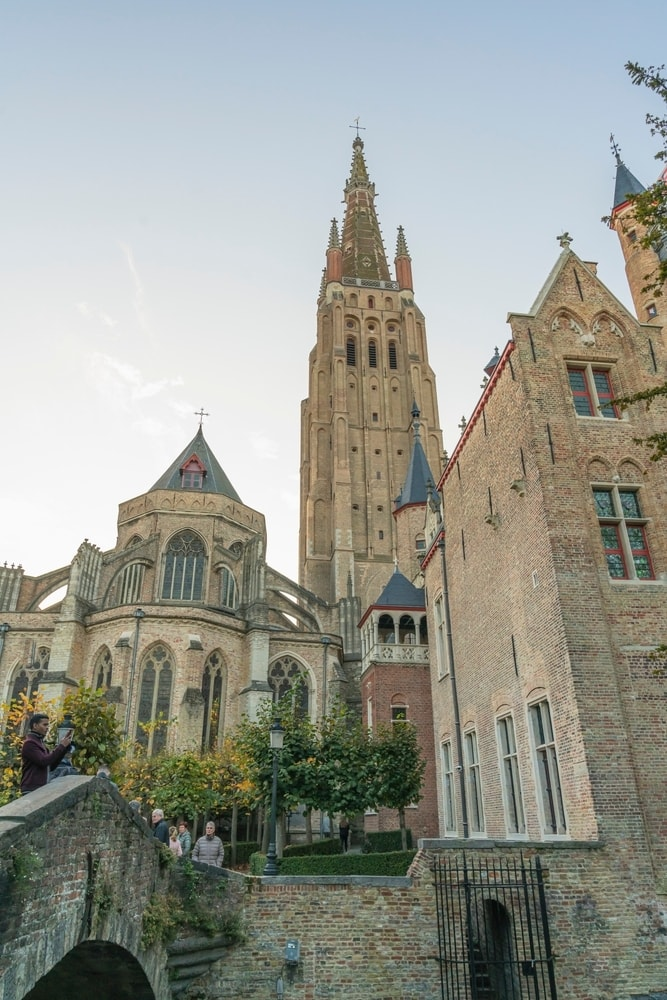 The Church of Our Lady in Brugge Belgium