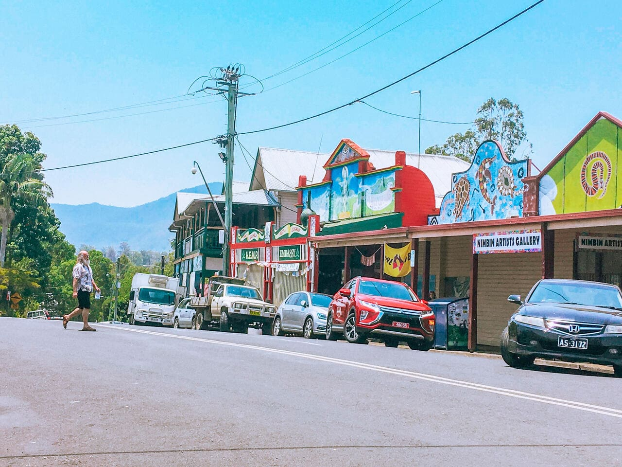 Nimbin in New South Wales Australia