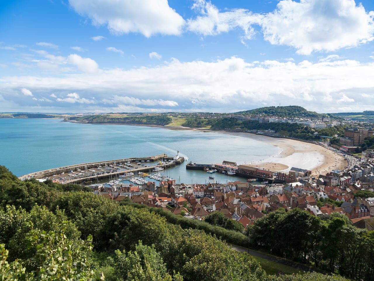 The coastal town of Scarborough in North Yorkshire - one of the great days out with kids.