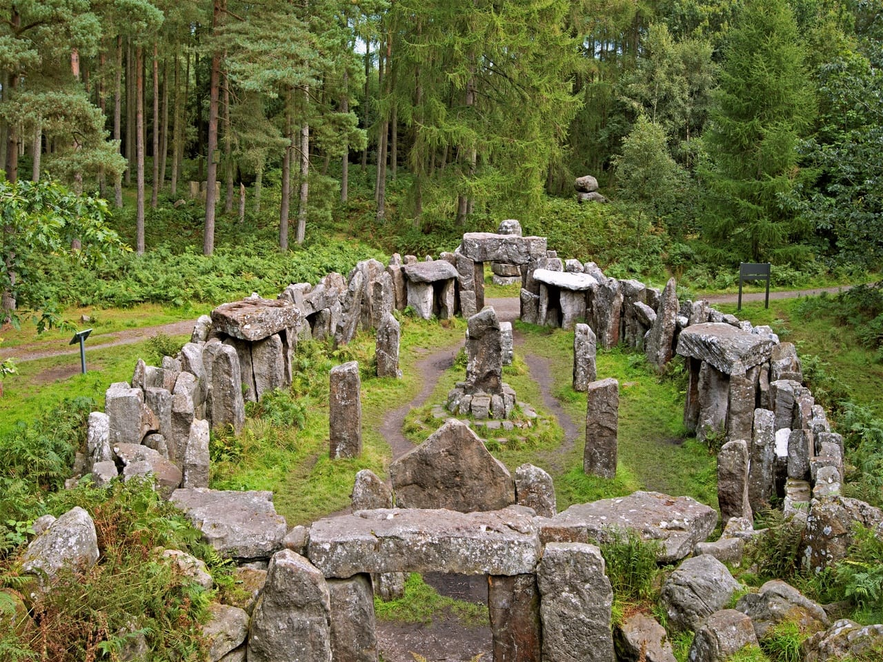 Swinton Druids Temple - one of the unusual things to do in Yorkshire