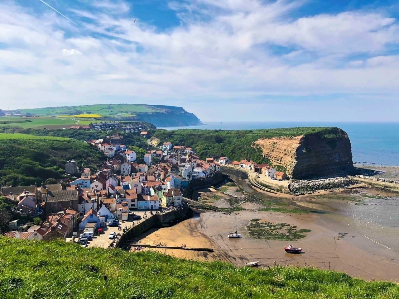 Coastal village of Staithes in North Yorkshire, perfect for weekends away