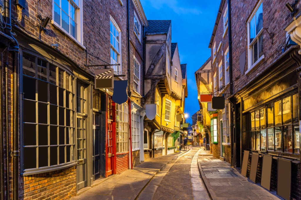 York Shambles shopping street, the inspiration behind Diagon Alley in Harry Potter