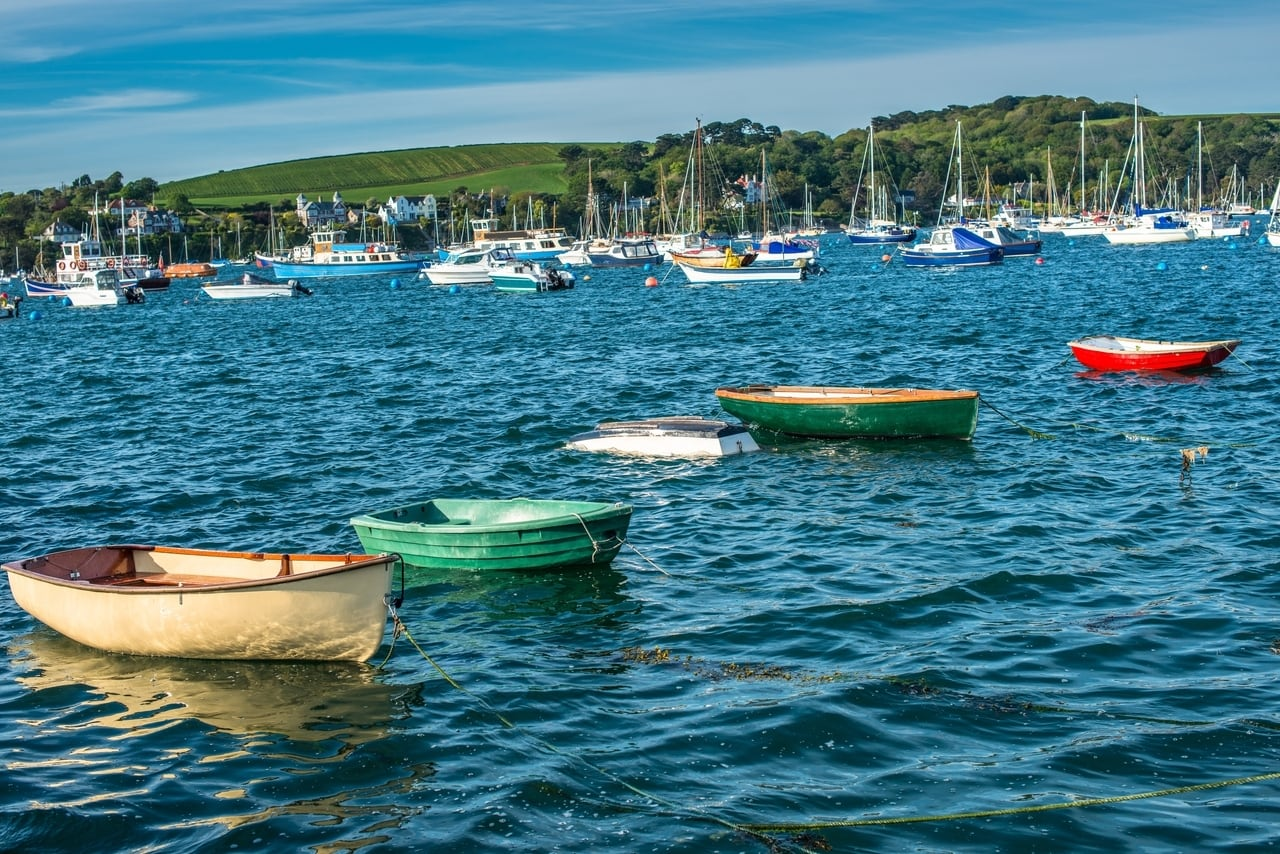 Boats in Falmouth Harbour on a weekend away in Cornwall