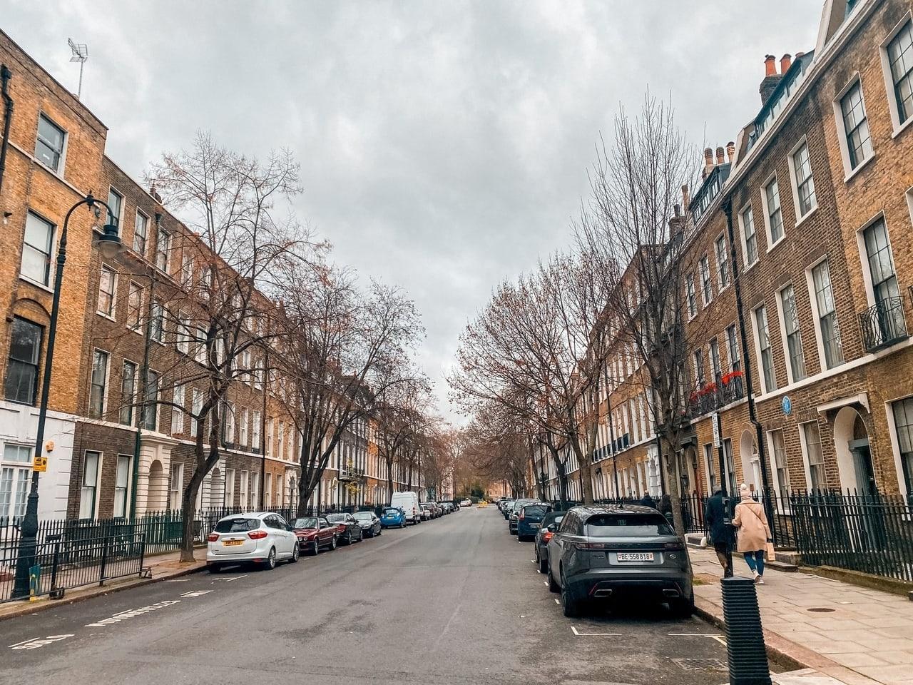 Doughty Street in Holborn London