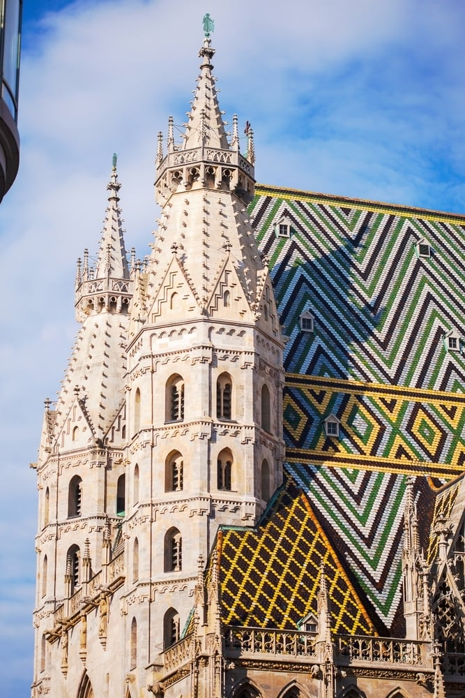 You can visit the St Stephen's Cathedral in Vienna for free, making it easy to visit Vienna in 2 or 3 days on a budget.