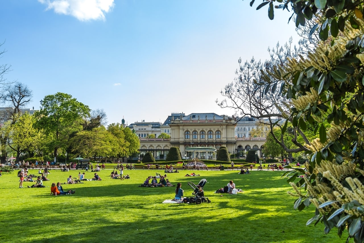 Chilling in one of Vienna's many parks in the summer is one of the many things to do in vienna.