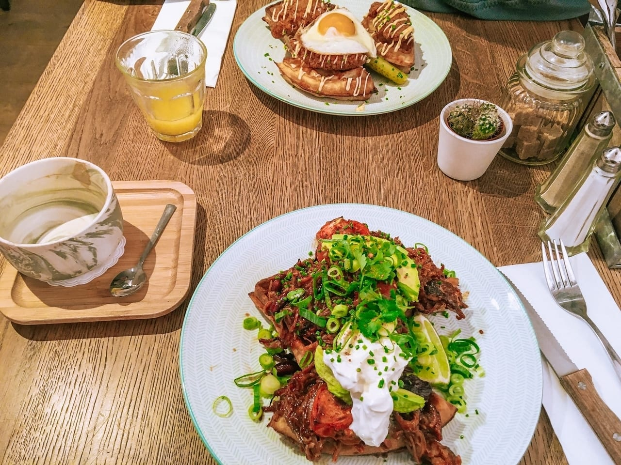 Brunch during my one day in Ghent, Belgium