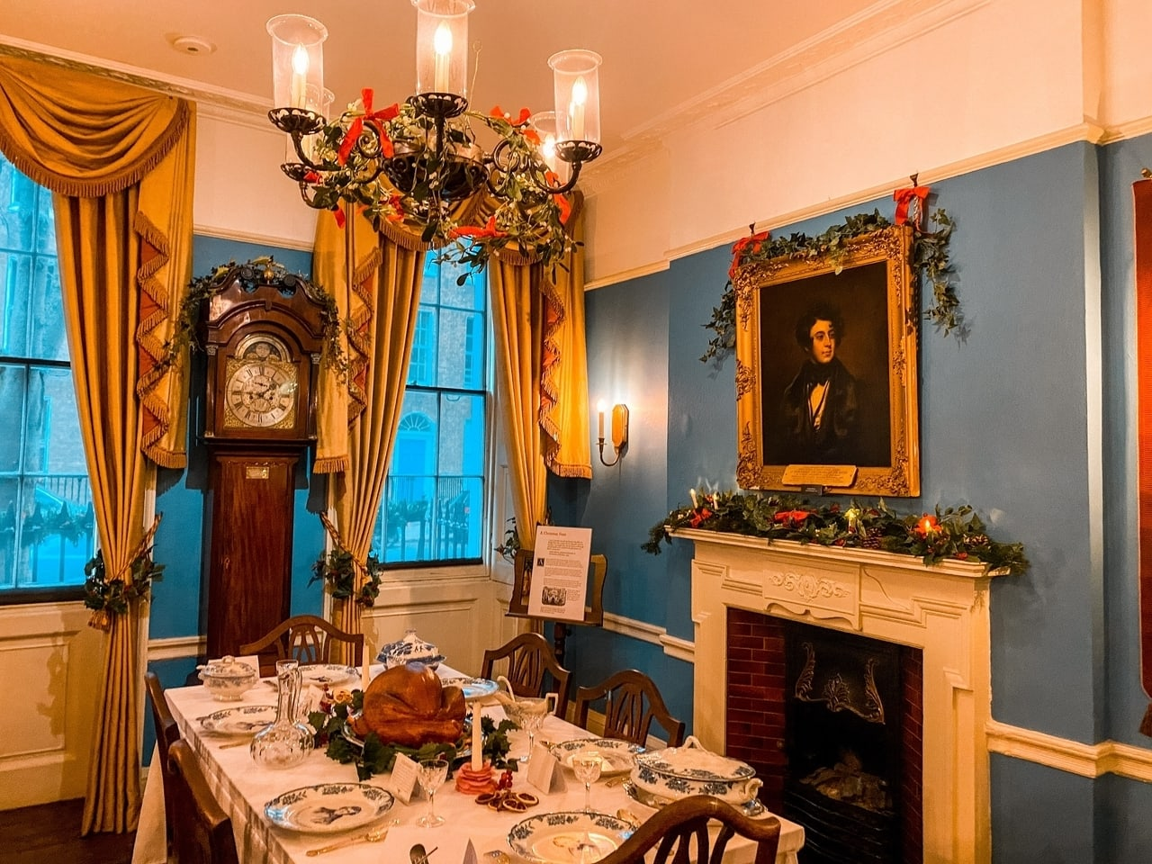 Charles Dickens House in London at Christmas