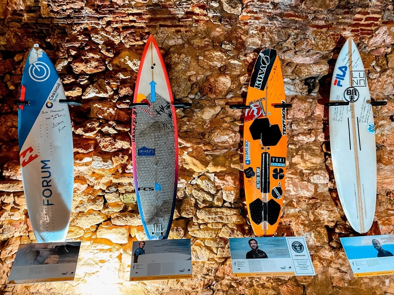 The suf museum documenting the Nazare giant waves and biggest wave ever surfed.