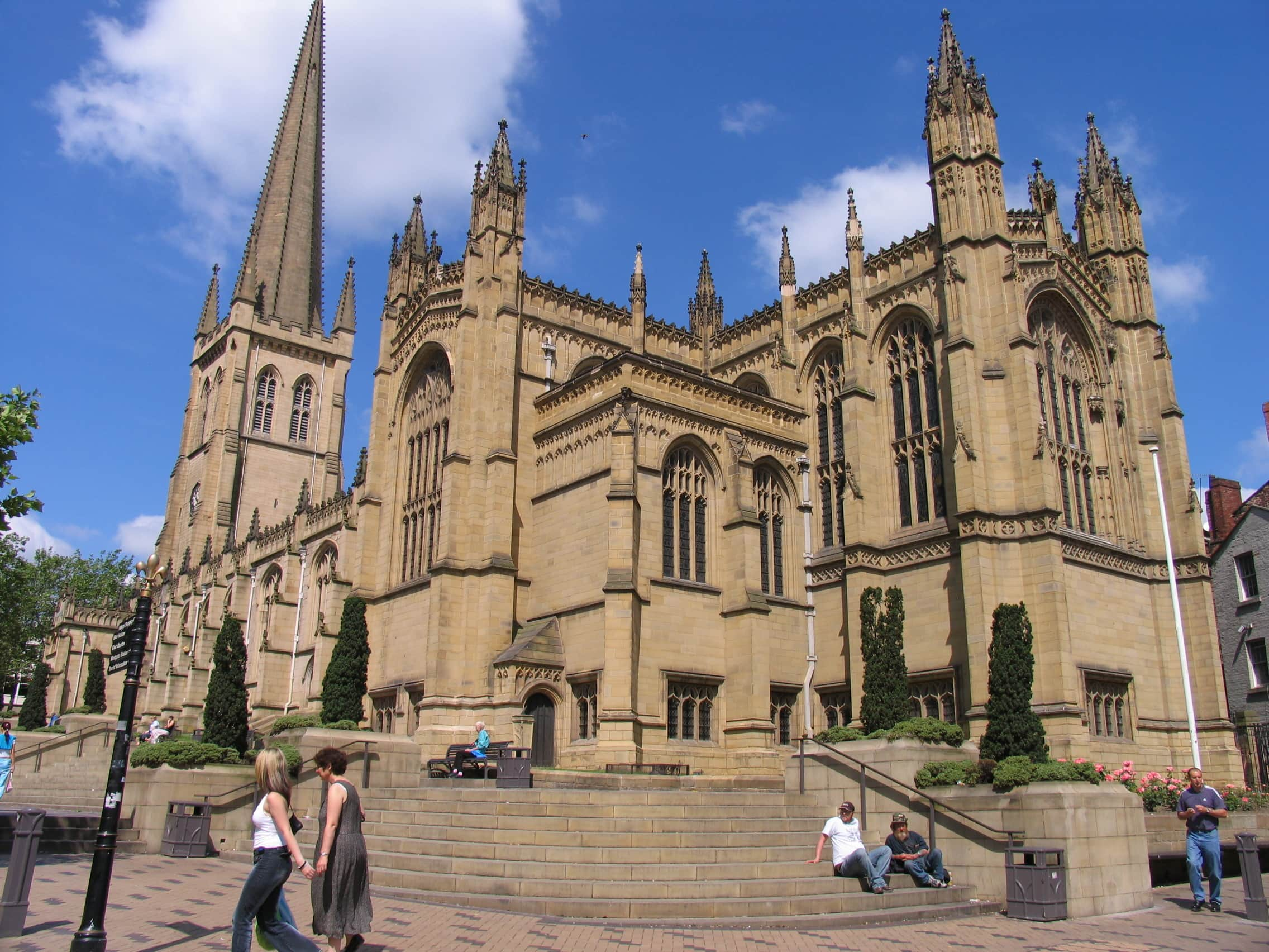Wakefield cathedral in West Yorkshire