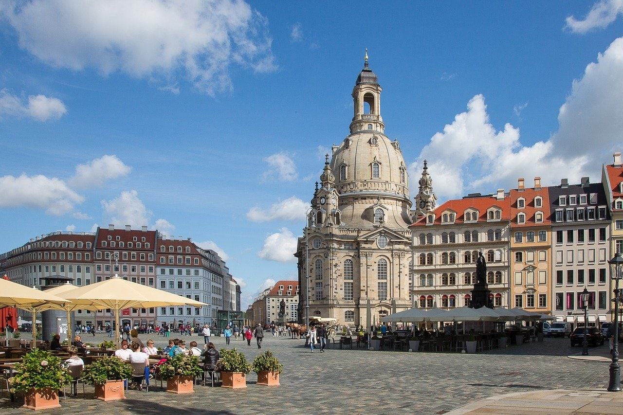 The city centre in Dresden germany