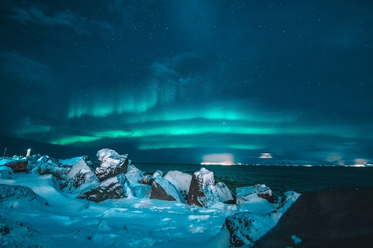 The Northern Lights in a cold climate