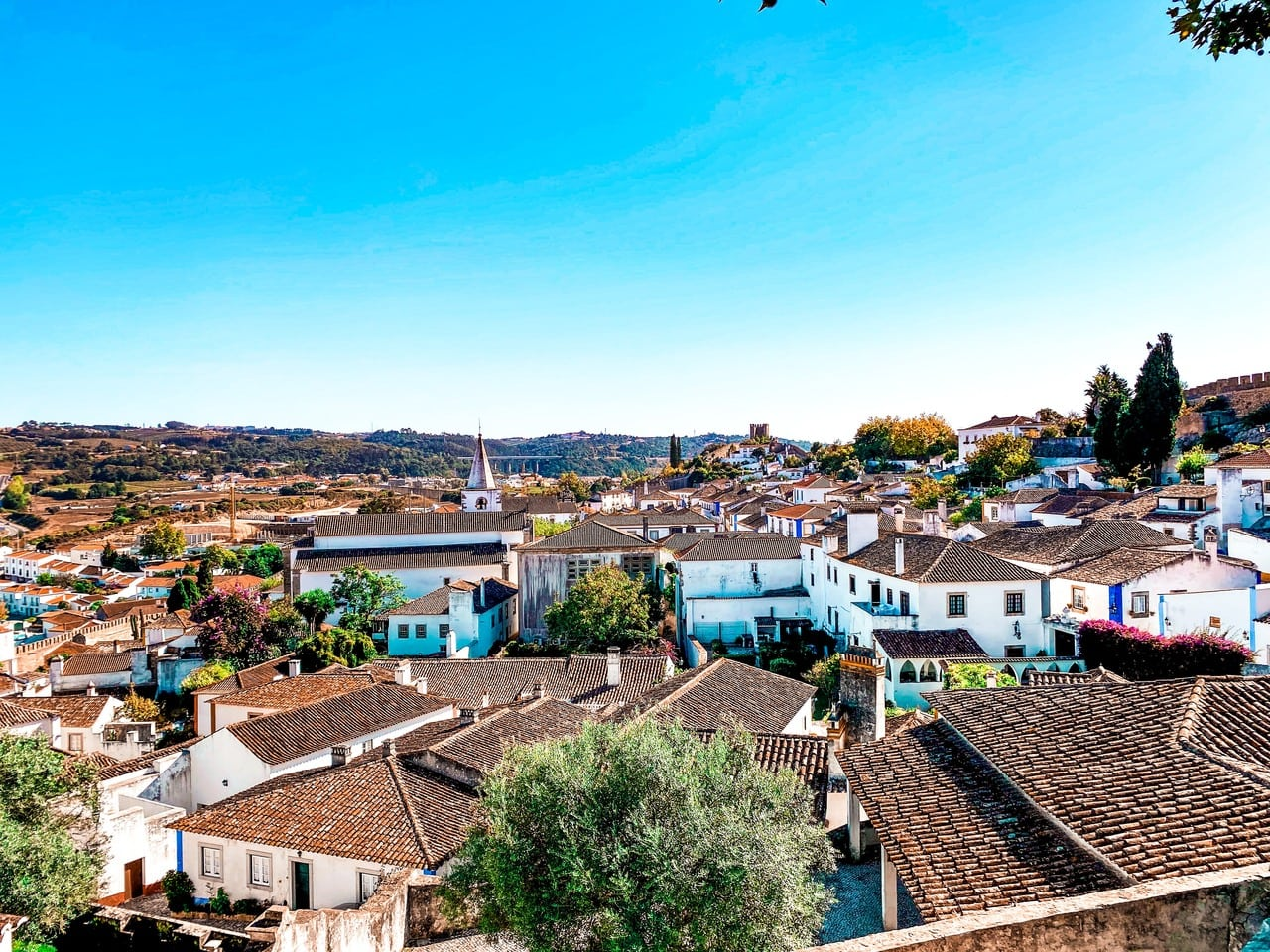 Obidos town view from Obidos medieval walls
