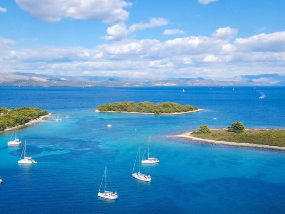 Croatia blue lagoon