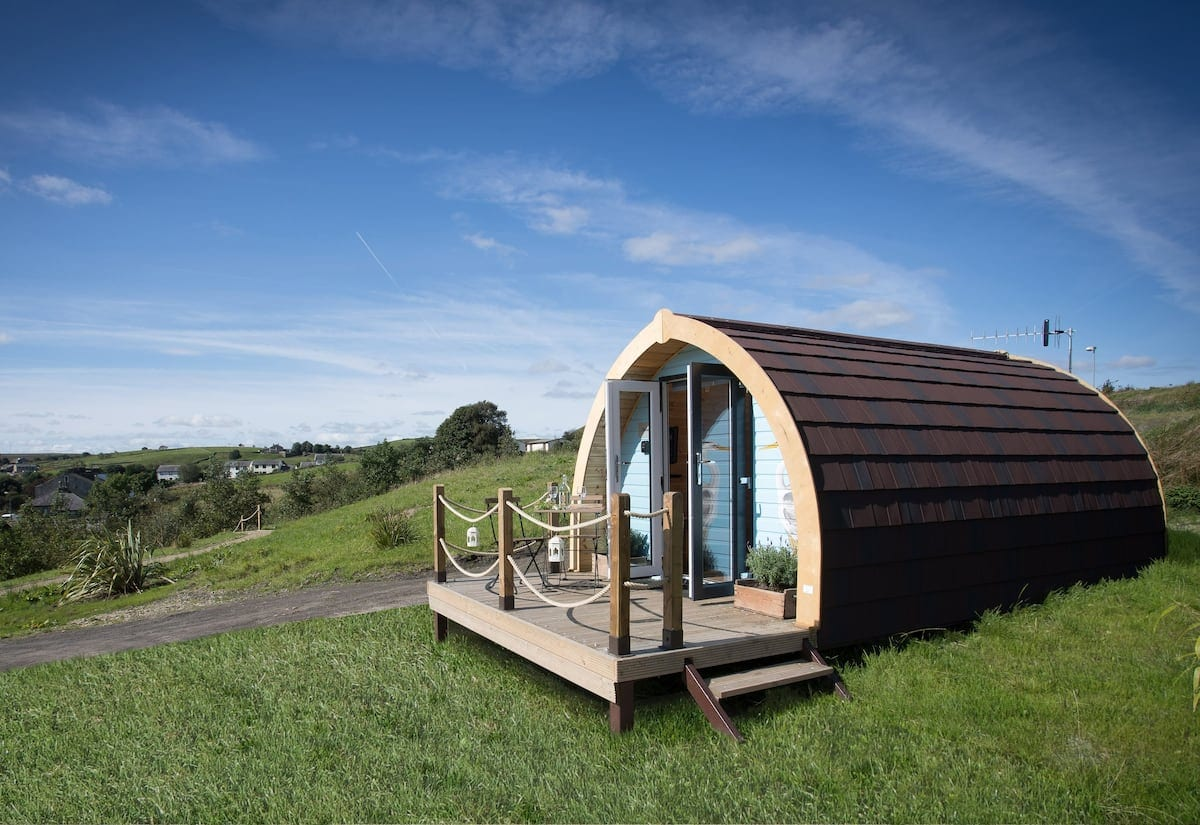 Glamping in the countryside.