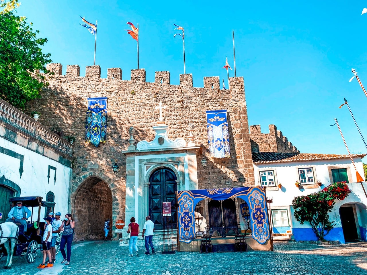 Entrance to the walled medieval town of Obidos