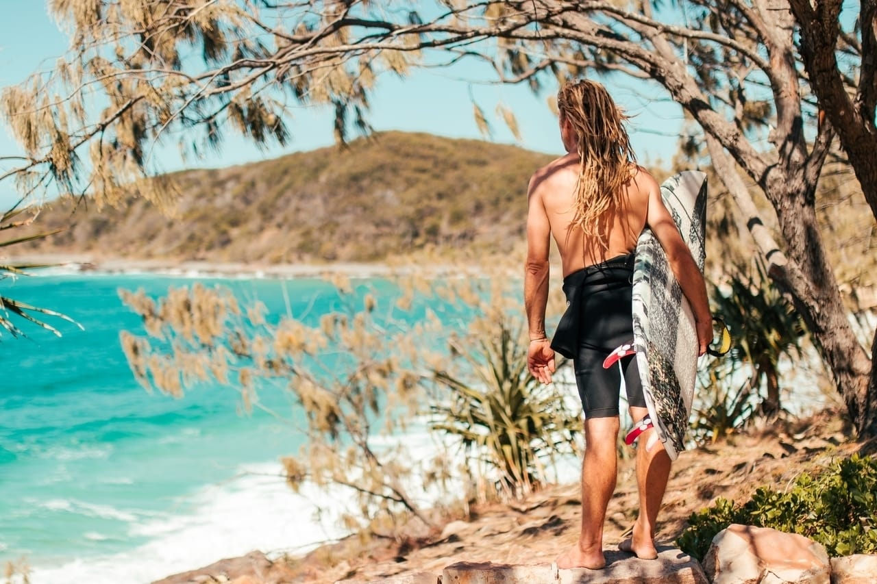 Surfing, one of the best things to do in Noosa