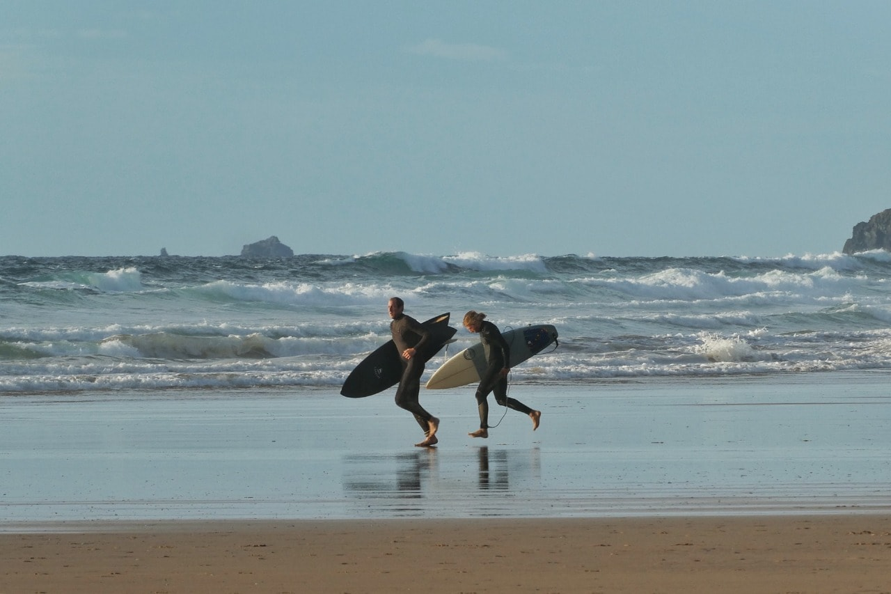 Watergate Bay beach in Newquay, England