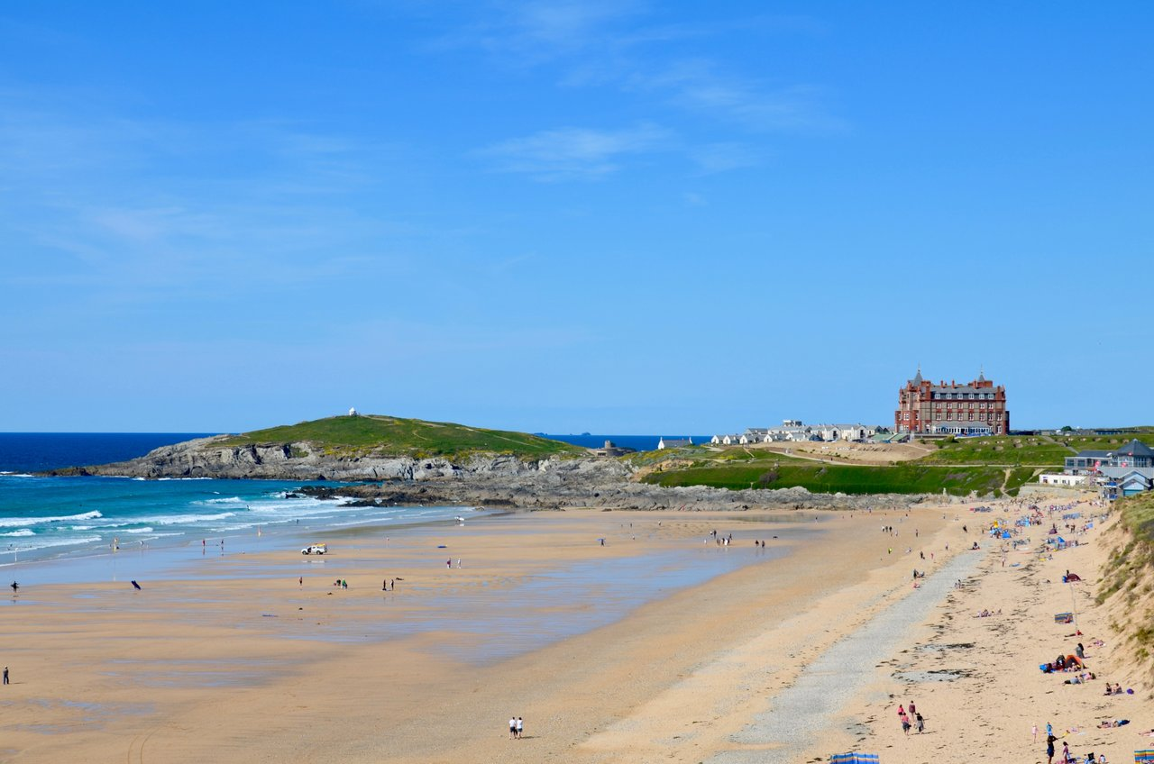 The headland at Fistral, Newquay England