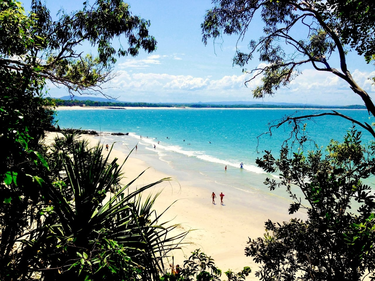 Little Cove Beach, one of the quietest beaches in Noosa