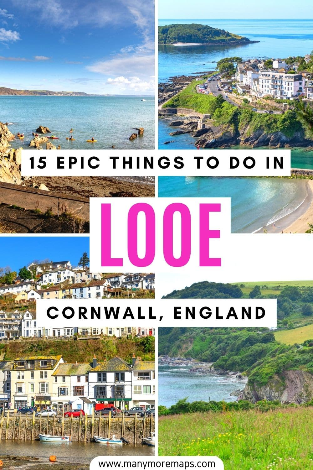 Planning to visit Looe, one of the many beautiful places in Cornwall, England? Here are the best things to do in Looe Cornwall including Looe beach, Looe monkey sanctuary, Looe museum and hiking on the south west coast path! Cornwall england beaches towns places to visit where to go in, Looe cornwall holidays, cornwall in summer, beautiful places in England, summer holidays in England, UK staycations, staycation inspiration, seaside towns in cornwall.