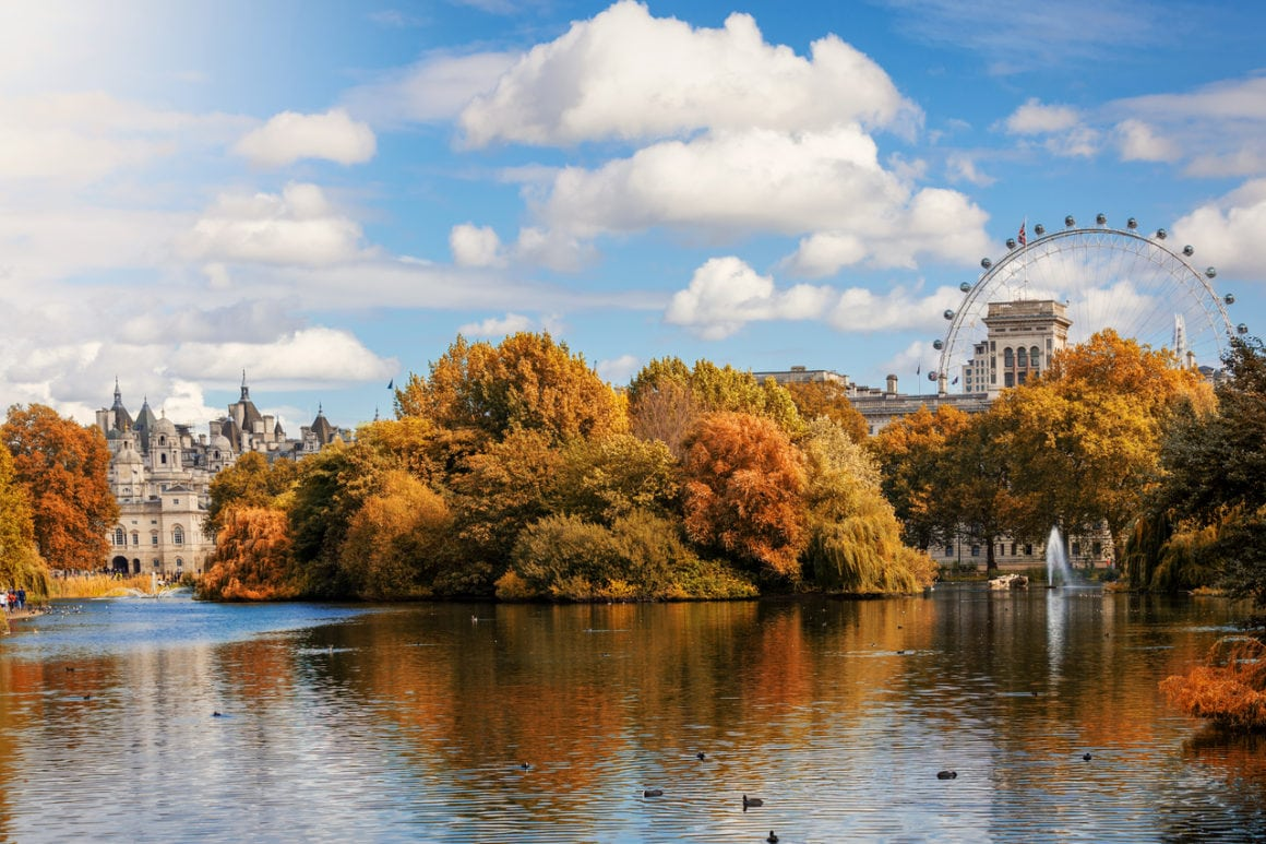Autumn is the best time to visit London