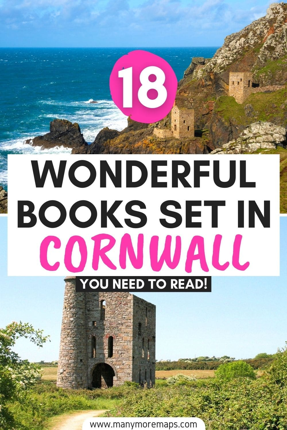 The best fiction and non-fiction books set in or about Cornwall, England - perfect for planning your next trip! Cornwall aesthetic, Cornwall best places to visit, Cornwall trip and travel inspiration, Cornwall cottages, cornwall coast, best books to read on the beach, chick lit books, poldark books aesthetic.