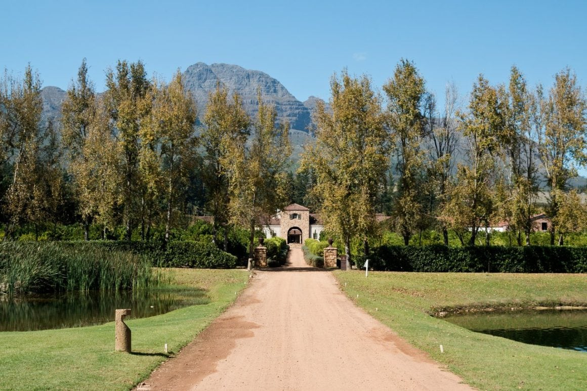 Beautiful gardens and mountains in South Africa
