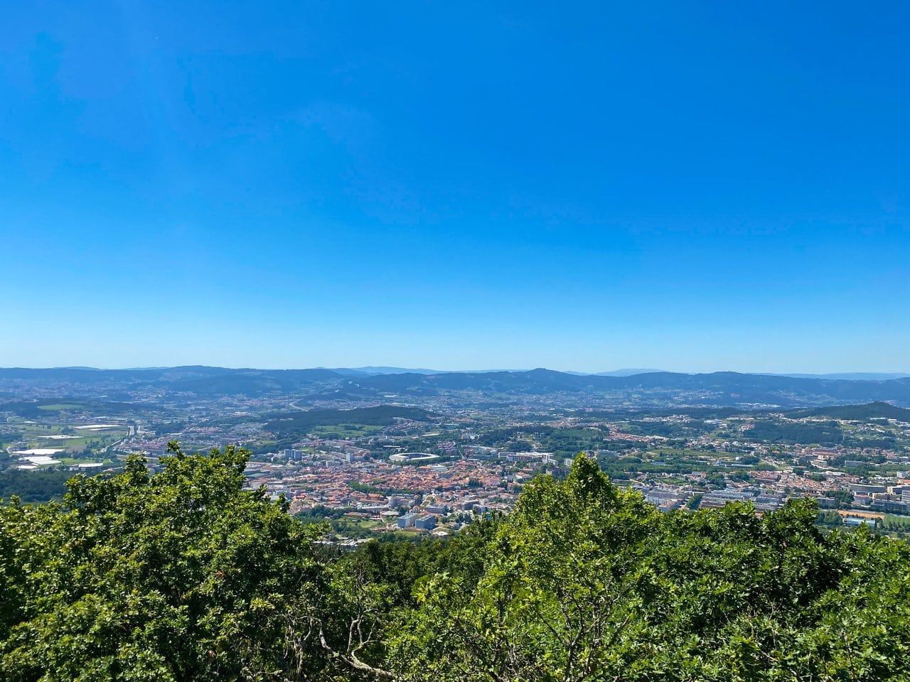 Views over a Portuguese city in summer