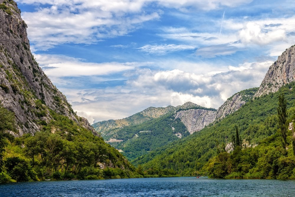 Cetina River in Croatia