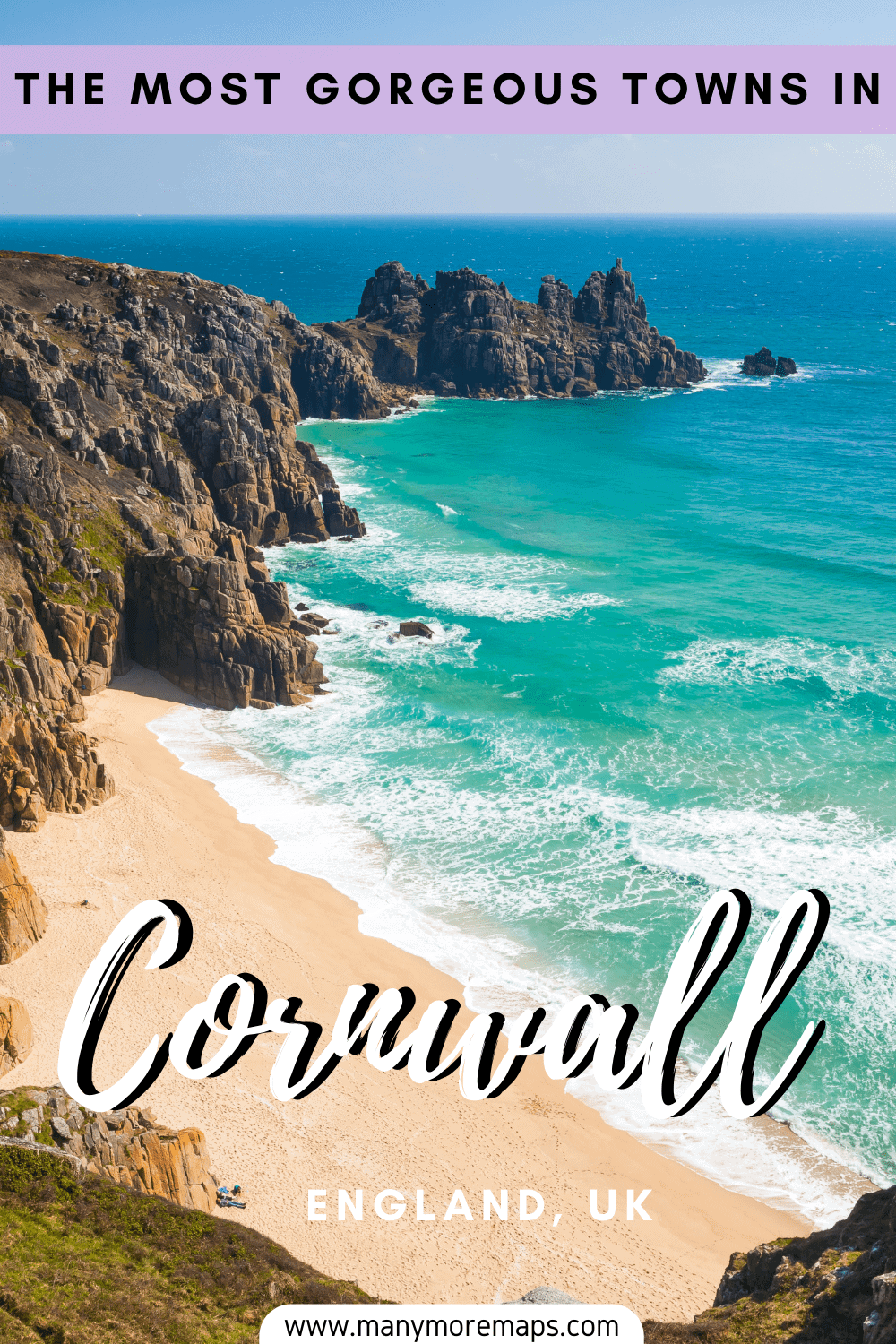 The very best towns and villages to visit in Cornwall! Most beautiful places in Cornwall, Cornwall England travel inspiration and travel tips, things to do in Cornwall, things to see in Cornwall, Cornwall beaches, Looe, Penzance, Newquay, Looe, Port Isaac, Kynance Cove, Sennen, Padstow, Falmouth, St Ives, Cornwall hiking, Cornwall surfing, Cornwall staycations and holidays, England staycation