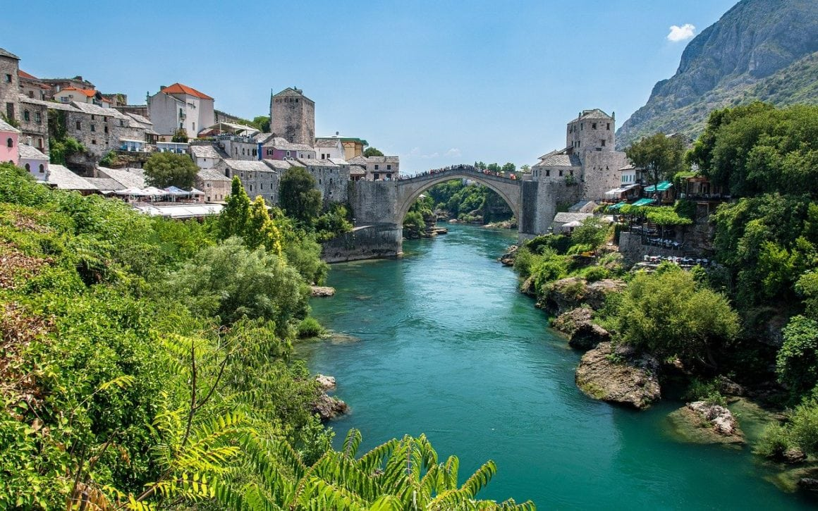 Mostar old town in Bosnia and Herzegovina
