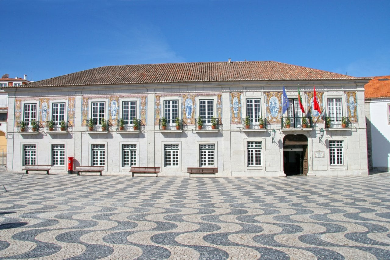 Old town hall building in Portugal