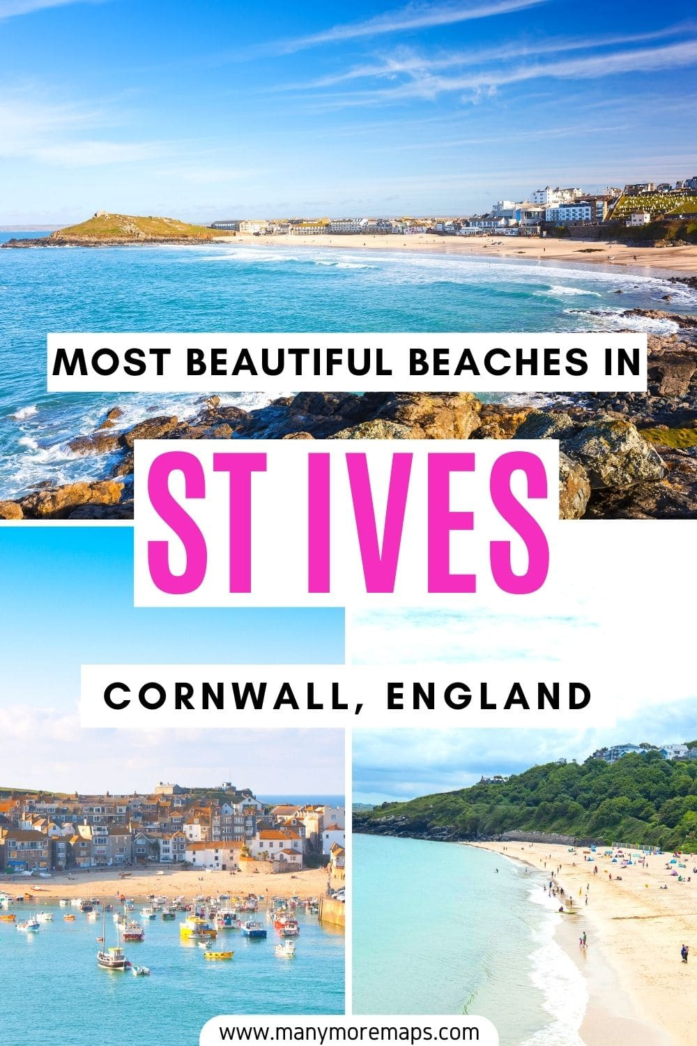 Looking for the best beaches to visit in St Ives whilst travelling in Cornwall? Check out these beautiful beaches in Cornwall you can't miss. Best things to do in St Ives, places to visit in Cornwall, things to see in Cornwall, Cornwall itinerary, Cornwall road trip, Cornwall surf destinations, Cornwall holidays, Cornwall best things to do, St Ives holidays, summer in England, UK staycation ideas, England travel, UK bucketlist, UK beaches, UK surfing, England surfing, England beaches.