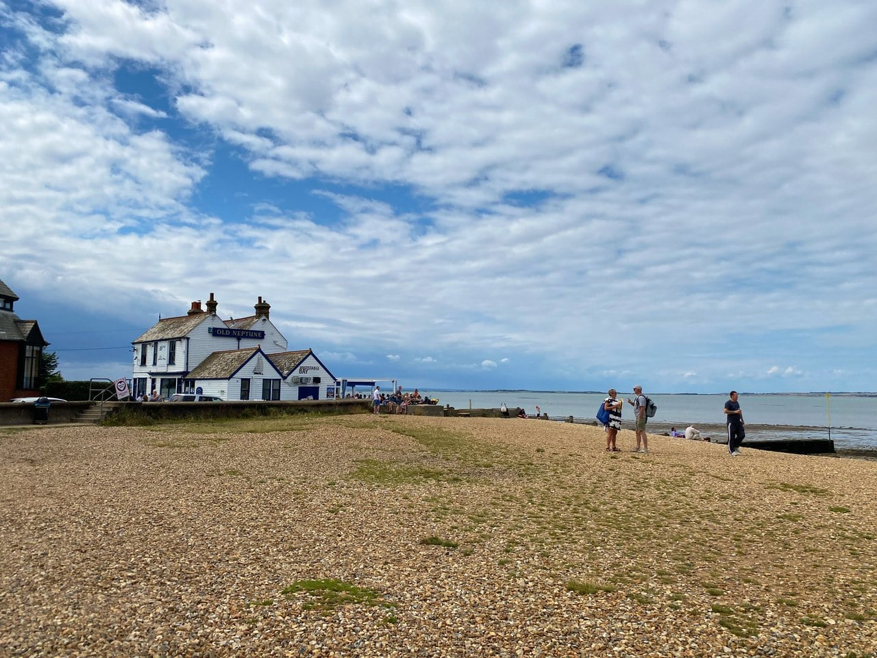 Pub on the beach in Kent, England
