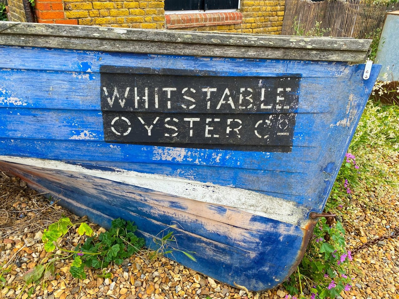 Old fishing boat in Kent England