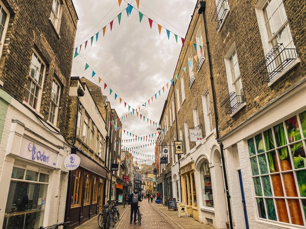 Pretty streets in England
