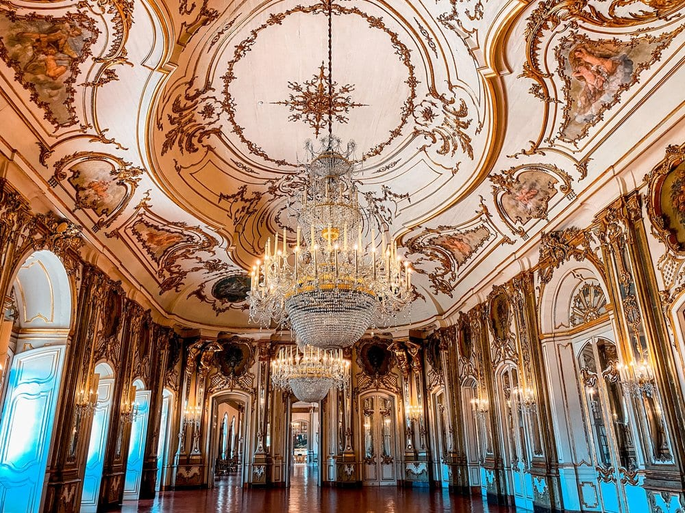 Inside Queluz Palace in Portugal