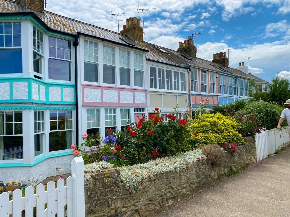 Beautiful cottages in Whitstable, Kent, England